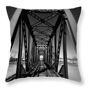 Black Tracks Throw Pillow