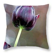 Black Tulip Throw Pillow