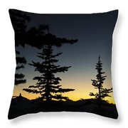 Black Tusk Sunset Throw Pillow