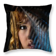 Black Veil Throw Pillow