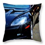 Black Vette Throw Pillow