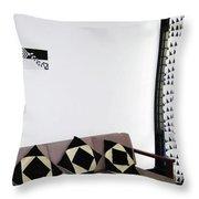 Black Vs White - Displayed Throw Pillow by Farah Faizal