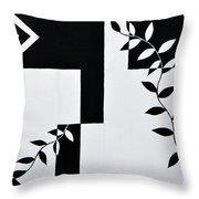 Black Vs White Again Throw Pillow