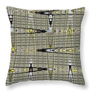 Black Walnut Drawing With Yellow Abstract Throw Pillow