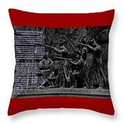 Black When Haitians Were Heroes In America Series Print No. 2 With Text Throw Pillow