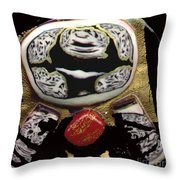 Black White And A Little Spice Throw Pillow