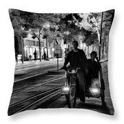 Black White Downtown Sj Trans Throw Pillow