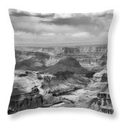 Black White Filter Grand Canyon  Throw Pillow