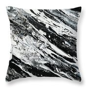 Black White Modern Art Throw Pillow