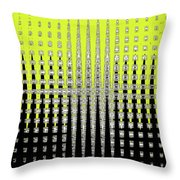 Black Yellow White With Abstract Action Throw Pillow