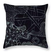 Black Zen 4 Throw Pillow