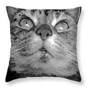 blackandwhiteKat Throw Pillow