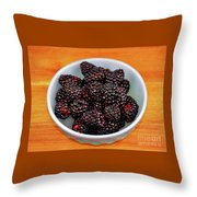 Blackberries 134 Throw Pillow