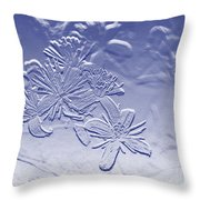 Blackberry Flower In Blue Throw Pillow