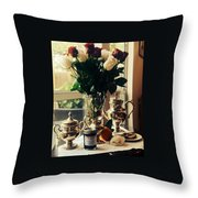 Blackberry Lust Jam Morning Throw Pillow