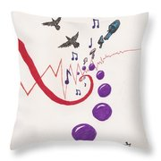 Blackbird Fly Throw Pillow