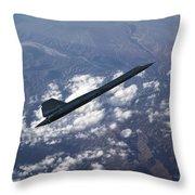 Blackbird Going Supersonic Throw Pillow