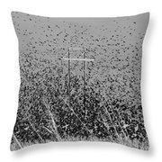 Blackbird Tornado Throw Pillow