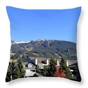 Blackcomb Mountain Throw Pillow