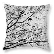Blackened Birds Throw Pillow