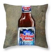 Blackened Voodoo Beer Throw Pillow