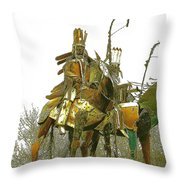 Blackfeet Wariors Throw Pillow