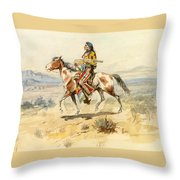 Blackfoot Indian. A Crow Scout Throw Pillow