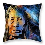 Blackfoot Woman Throw Pillow