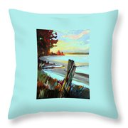 Blackie Spit Meets Mud Bay Throw Pillow