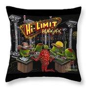 Blackjack Pimps Throw Pillow