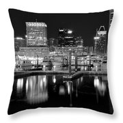 Blackness In The Harbor Throw Pillow