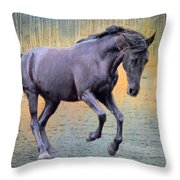 Blacks Danse Throw Pillow