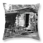 Blacksmith And Tool Shed Throw Pillow