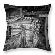Blacksmith Bench Throw Pillow