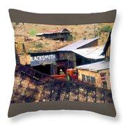Blacksmith, Ghost Town, Jerome, Az. Throw Pillow