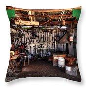 Blacksmith Shop By Kaye Menner Throw Pillow