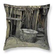 Blacksmith's Bucket Throw Pillow