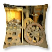 Blacksmiths Shop Throw Pillow