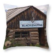 Blacksmiths Throw Pillow