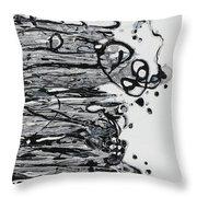 Blacksparkledance Throw Pillow
