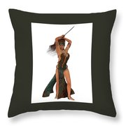 Blackthorn Rose Warrior Throw Pillow