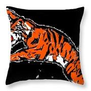 Blacktiger Throw Pillow