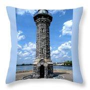 Blackwell Island Lighthouse Throw Pillow