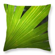 Blades Of Green Throw Pillow