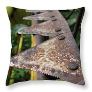 Blades Of Production Throw Pillow