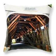 Blair Bridge, Campton Nh Throw Pillow