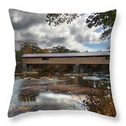 Blair Covered Bridge Throw Pillow