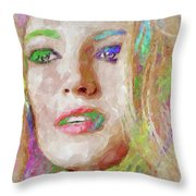 Blake Lively Watercolor Throw Pillow