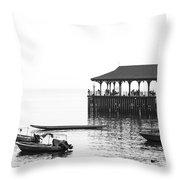 Blake Pier In Stanley, Hong Kong Throw Pillow