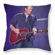 Blake Shelton Guitar 4 Throw Pillow